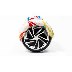 Гироскутер Smart Balance Wheel 6.5'' блютуз - граффити белый