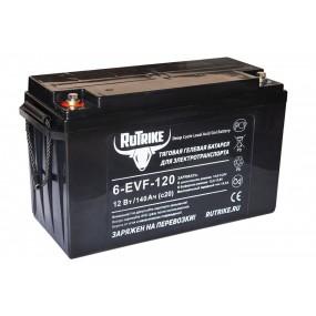Тяговый гелевый аккумулятор RuTrike 6-EVF-120 (12V140AH C3)