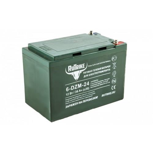 Тяговый гелевый аккумулятор RuTrike 6-DZM-24 (12V24A/H C2)