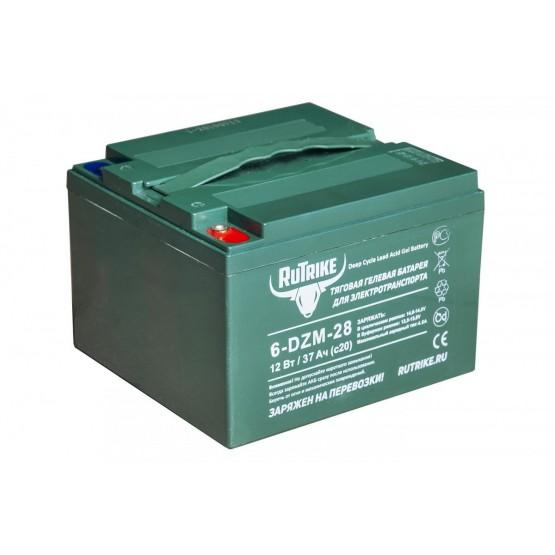 Тяговый гелевый аккумулятор RuTrike 6-DZM-28 (12V28AH C3)