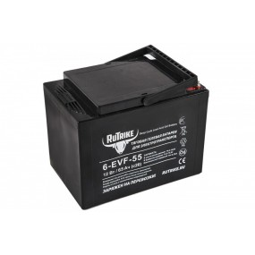 Тяговый гелевый аккумулятор RuTrike 6-EVF-55 (12V55AH C3)