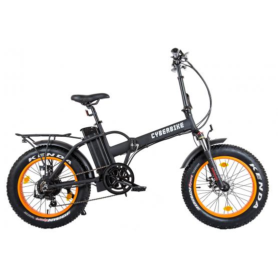 Электровелосипед Cyberbike Fat 500W - черно-оранжевый