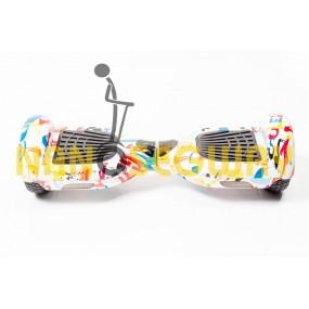 Гироскутер Smart Balance Wheel - граффити бело-красный