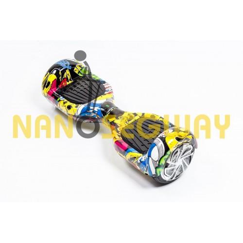 Гироскутер Smart Balance Wheel - граффити желтый
