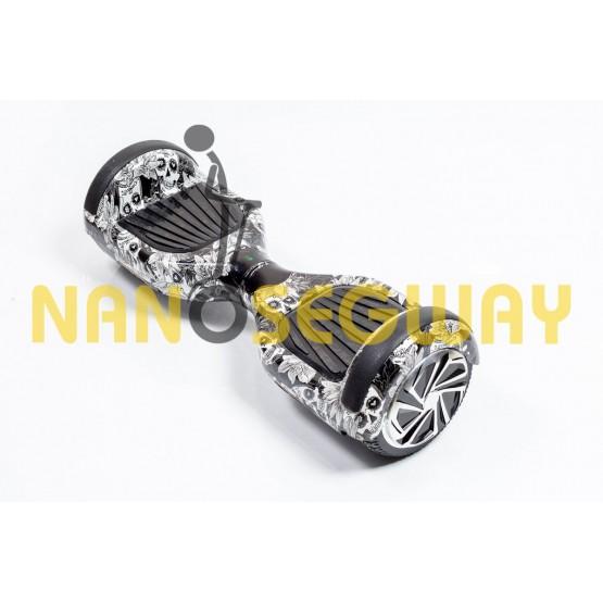 Гироскутер Smart Balance Wheel - граффити черно-белый